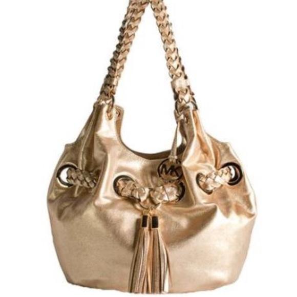 dd9ac18fd785 MICHAEL Michael Kors Bags | Michael Kors Braided Grommet Large ...