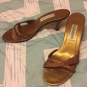 Caparros Shoes - Bronze Slip On Heels