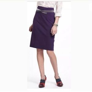 Anthropologie girls from savoy Pencil Skirt purple