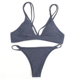 triangl swimwear Other - cheeky grey blue sexy bikini strappy