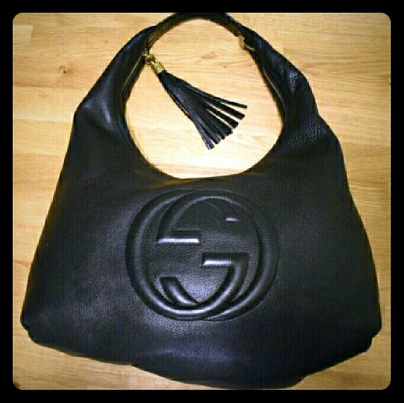 59fe8d3be95 Gucci Handbags - GUCCI Pebbled Leather Soho Hobo Bag