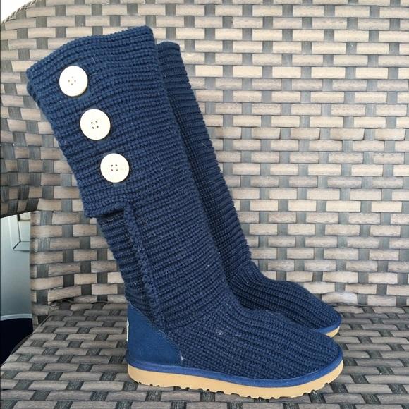 UGG Shoes   Navy Blue Knit Cardigan