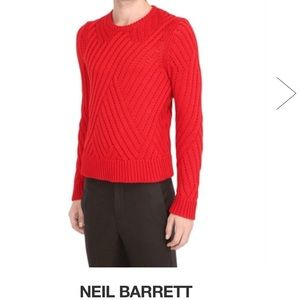 Neil Barrett Other - Neil Barrett: Wool Cable SweatShirt.