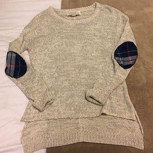 Vintage Havana Sweaters - Vintage Havana elbow patch side slit sweater!!!