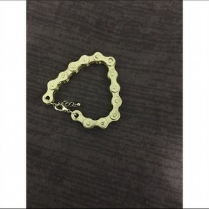 Jewelry - Gold bike chain bracelet.