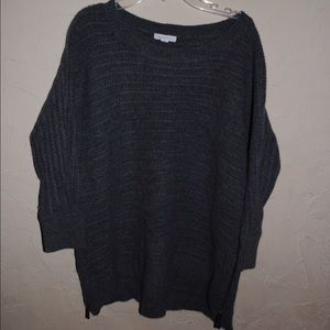 Garnet Hill Wool Blend Sweater - Dark Grey