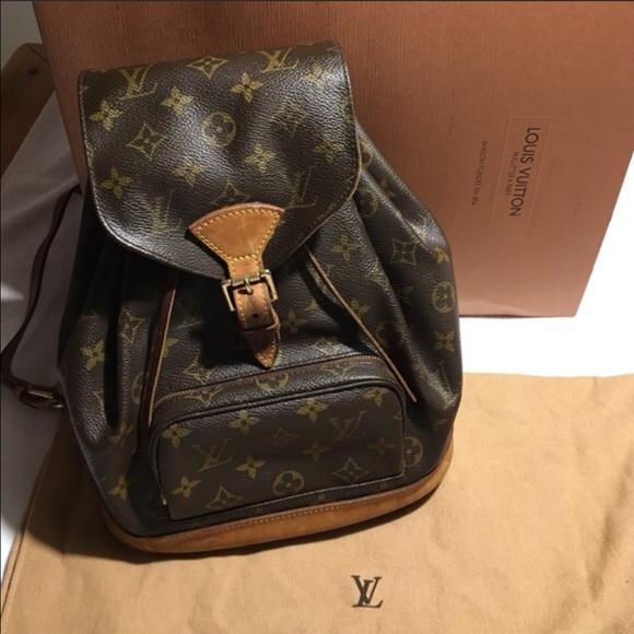 71e087850fec Louis Vuitton Handbags - AUTHENTIC Louis Vuitton Montsouris MM Backpack