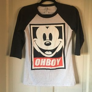 Oh Boy! Mickey Mouse baseball tee XS
