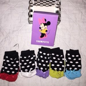 Trumpette Other - *HP* Adorable Minnie Mouse sock set bows on toes