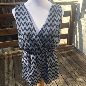 Honey Punch Other - Honey Punch chevron romper