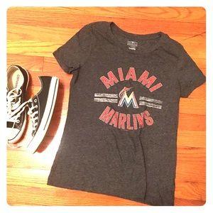 5th & Ocean Tops - Miami Marlins baseball tee