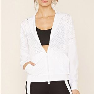 F21 Active Perforated Windbreaker