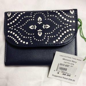 Vera Bradley trifold wallet Morocco navy
