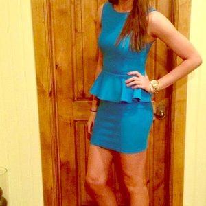Topshop Size 6 Peplum Dress