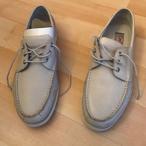 Levi's Other - Light grey leather boat shoes