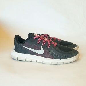 Nike Other - NIKE FREE 5.0 BLACK PINK 3 Y SNEAKERS SHOES girls