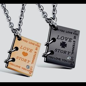 Two Necklaces!!  Love Story Charm book📚