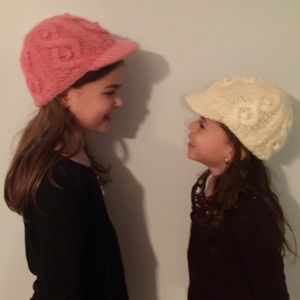 San Diego Hat Company Other - *HP* Newsboy Cable Knit Hats Fits size 2-6 yrs EUC