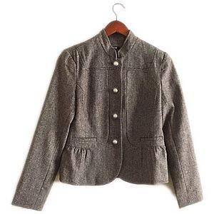 Jackets & Blazers - Tan tweed blazer/coat