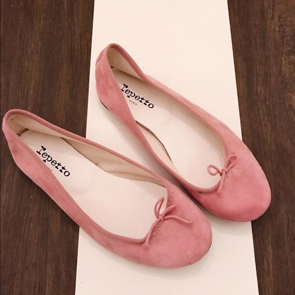 3c03874dd40 Repetto Cendrillon Pink Suede Ballet Flats
