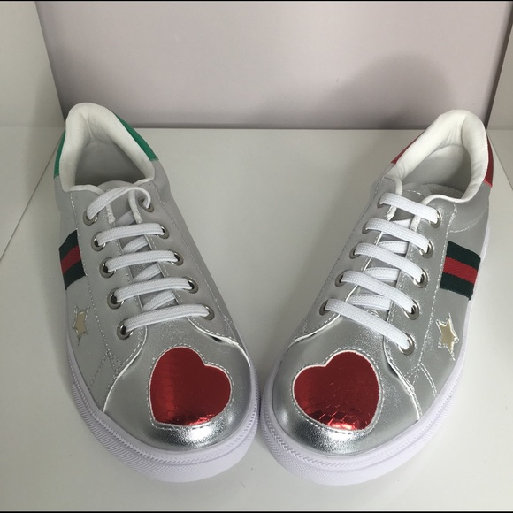 5b71981941986b Shoes | Kids Gucci Style Silver Ace Sneakers | Poshmark
