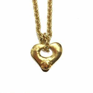 CHANEL 24K Vintage Heart Necklace
