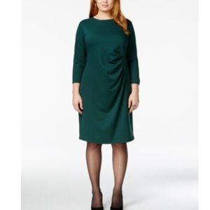Spense Dresses & Skirts - Spense Plus Size Side-Ruched Knit Sheath Dress.B81