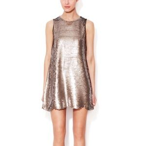 Paper Crown Dresses & Skirts - FINAL PRICE | Cambria Scalloped Sequin Shift Dress