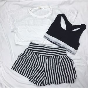 Black & White Flowy Shorts
