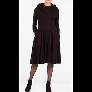 eshakti Dresses & Skirts - New Eshakti Black Knit Fit & Flare Dress 20W