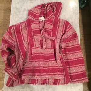 Women's Pink Poncho