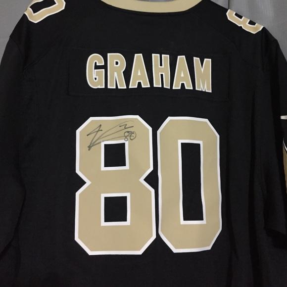 pretty nice e9956 65e31 Men's Jimmy Graham AUTOGRAPHED jersey Saints #80 NWT