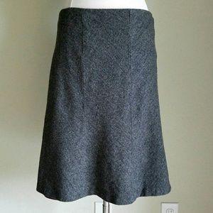 Eddie Bauer Dresses & Skirts - Eddie Bauer Gray Herringbone Tweed Wool Skirt