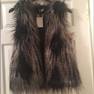 H&M Faux Fur Vest NWT