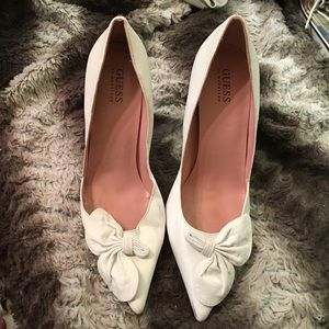 Guess by Marciano Shoes - Guess by Marciano white leather high heels 9 1/2 m