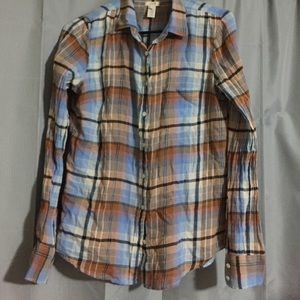 J. Crew women's plaid flannel shirt size 2