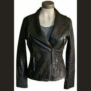 KORS Michael Kors Jackets & Blazers - MICHAEL KORS black leather moto biker jacket