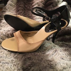 Enzo Angiolini Shoes - Enzo angiolini tan black high heels 8 m