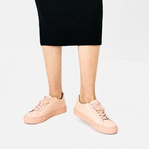 Cute pink tennis shoes