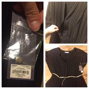 6a1d02c51fd Jennifer Lopez Shorts - NWT J. Lo Plus Size Black Romper + Gold Chain Belt