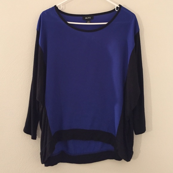 98140711f1a Alyx Tops - Alyx Color block Blue   Black blouse