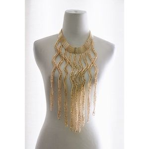 Jewelry - Wavey Gold Collar Necklace