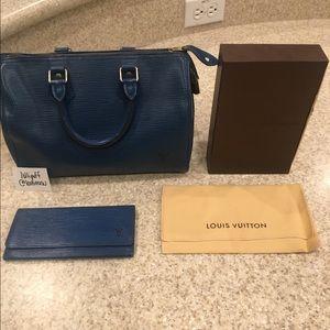 Authentic Louis Vuitton Epi Leather Bag & Wallet