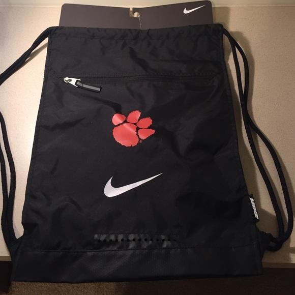 fecbf45bc00 Nike Bags   Clemson Drawstring Bag   Poshmark