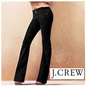 J. Crew Black Riveted Velvet Pants Size 2 Bootcut