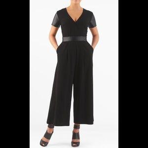 eshakti Pants - New Eshakti Black Long Sleeve Jumpsuit XL 18
