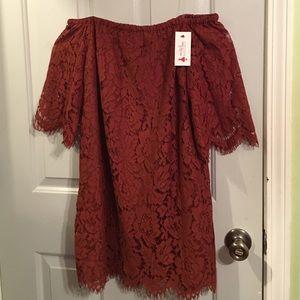 Rustic Off the Shoulder Dress - S/M