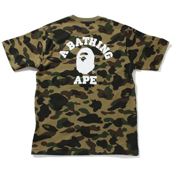 50d7a01e086e A bathing ape Bape green camo t shirt