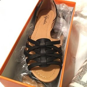 Paprika Shoes - Paprika - Black Huaraches (Mexican Style Flats)