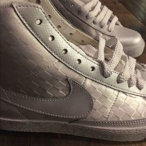 Women's White Nike Blazers